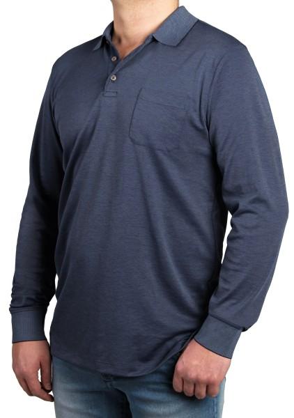 Poloshirt in Überlänge, K I T A R O Blau