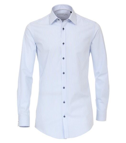 Hemden Extra langer Arm 72 cm, Venti body fit, Streifen Hellblau