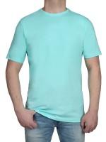 T-Shirt KITARO Rundhals Türkis- Extra Lang