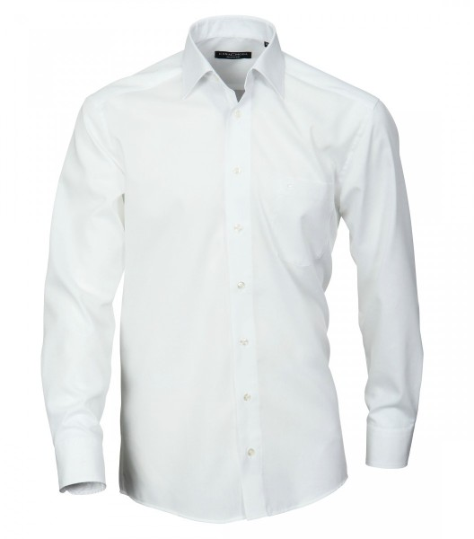 Hemd Casa Moda Comfort Fit Weiss Extra langer Arm 69 cm