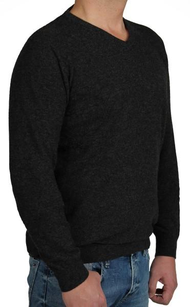 Kitaro Herren Strick-Pullover, Extra Langer Arm, anthrazit