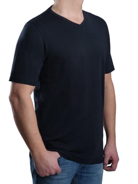 T-Shirt KITARO V-Ausschnitt Marine-- EXTRALANG