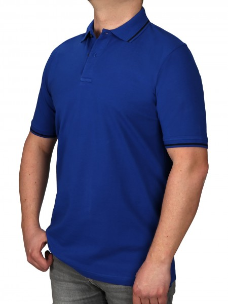 Poloshirt KITARO Royalblau--Rumpf und Kurzärmel in EXTRALANG