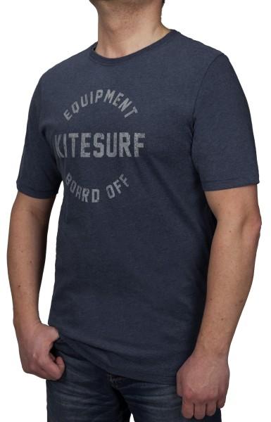 T-Shirt KITARO -Blau mit Aufdruck-- in extra lang