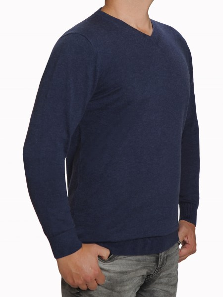 Extra langer Pullover, K I T A R O-V-Ausschnitt, Blau