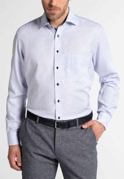 Hemden Extra langer Arm 68 cm, E T E R N A Comfort Fit, Gemustert Hellblau