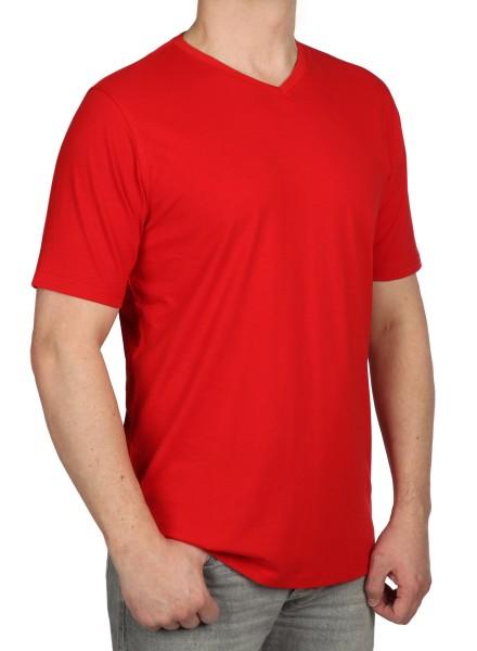 T-Shirt KITARO V-Ausschnitt Rot - EXTRALANG