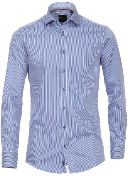 Hemd Extra langer Arm, 72 cm, Venti Slim Fit, Streifen Blau/Weiß