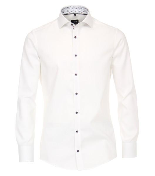 Hemden Extra Langer Arm 72 cm, Venti Modern Fit, Struktur Weiß