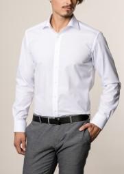 Hemd E T E R N A Modern Fit Weiß Extra langer Arm 72 cm
