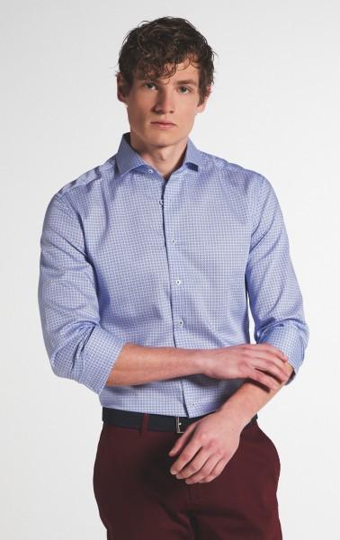 Extra langer Arm 72 cm, Hemd Eterna Slim Fit, Gemustert