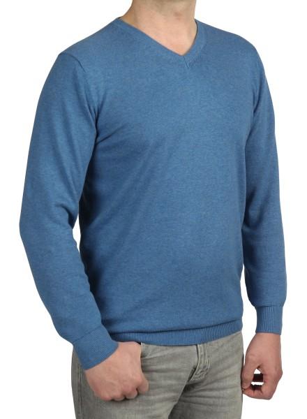 Extra langer Pullover, K I T A R O-V-Ausschnitt, in Blau