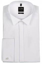 Hemd OLYMP Level Five body fit KläppchenKragen Weiß Extra Langer Arm 70cm