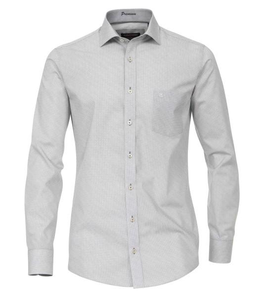 Hemden Extra langer Arm, 72 cm, Casa Moda Modern Fit, Gemustert Grau