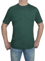 T-Shirt KITARO Rundhals Grün-- Extra Lang
