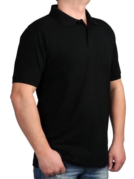Poloshirt KITARO Schwarz--Extra Lang