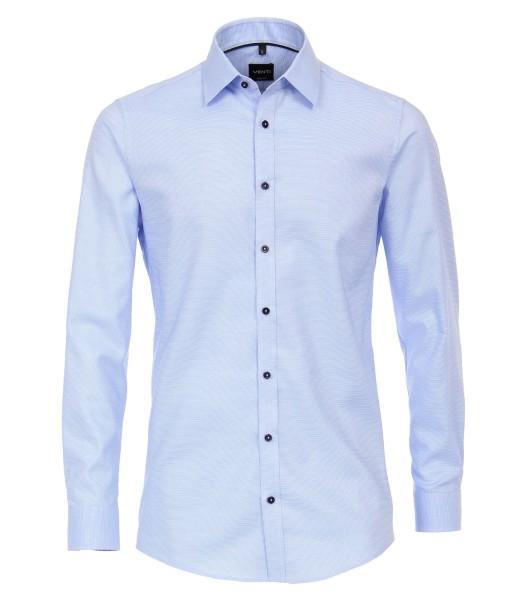 Hemden Extra langer Arm 72 cm, Venti Body Fit, Struktur Hellblau