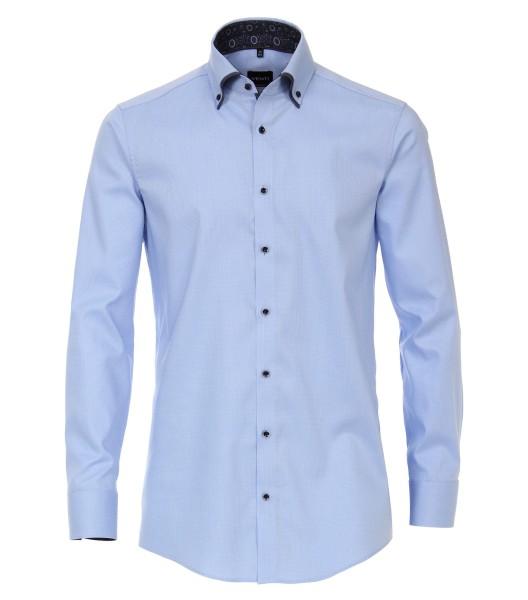 Hemden Extra langer Arm 72 cm, Venti Modern Fit, Struktur Hellblau