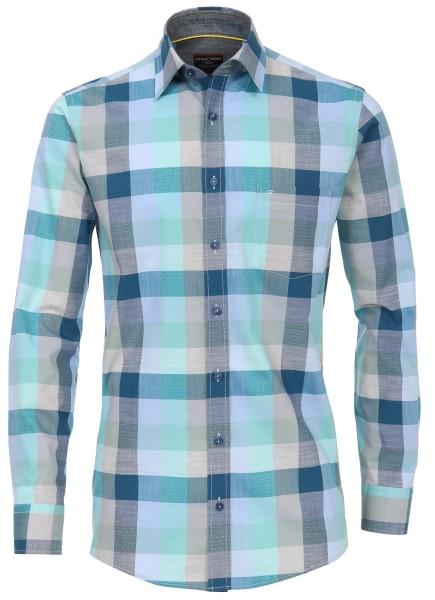Freizeithemden Extra Langer Atm 72 cm, Casa Moda Comfort Fit, Kariert Grün