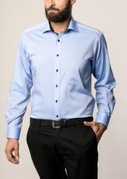 Hemd E T E R N A Comfort Fit modisch Blau Extra langer Arm 68cm