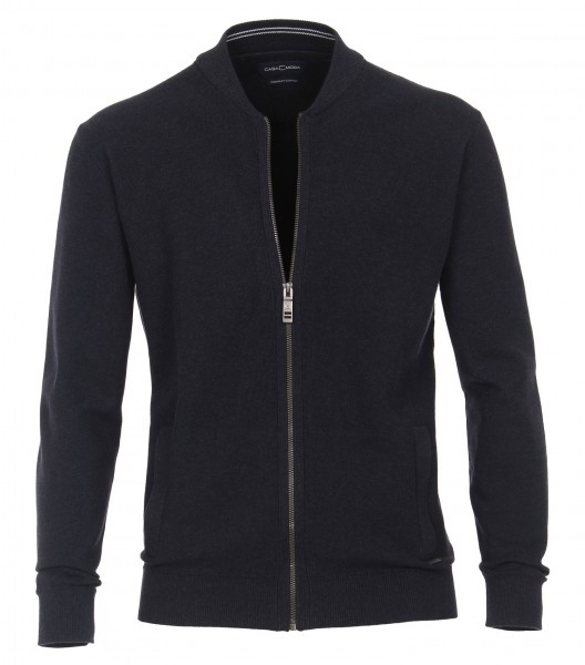 Casa Moda Strick-Jacke in EXTRALANG, Rumpf und Ärmel, Marine