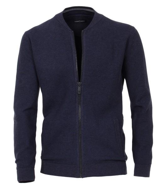 Casa Moda Strick-Jacke in Marine, EXTRALANG, Rumpf und Ärmel