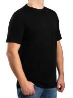 T-Shirt KITARO Rundhals Schwarz-- EXTRALANG