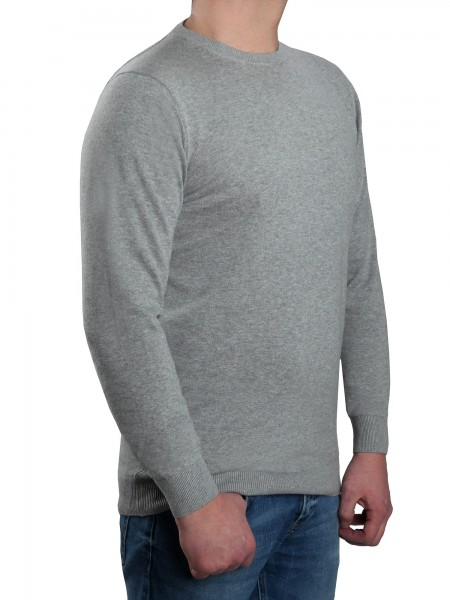 new products aa061 8188e Extra langer Pullover Herren, K I T A R O-Rundhals, in Hellgrau