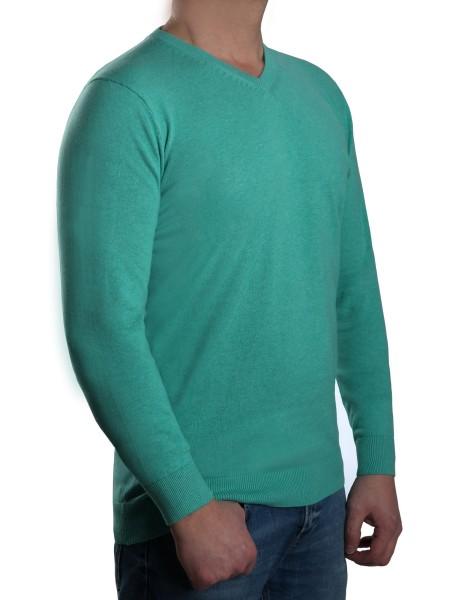 Extra langer Pullover, K I T A R O-V-Ausschnitt, Mint