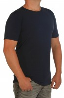 Extra langes K I T A R O- T-Shirt (stretch ) Kurzarm - Rundhals Marine MT
