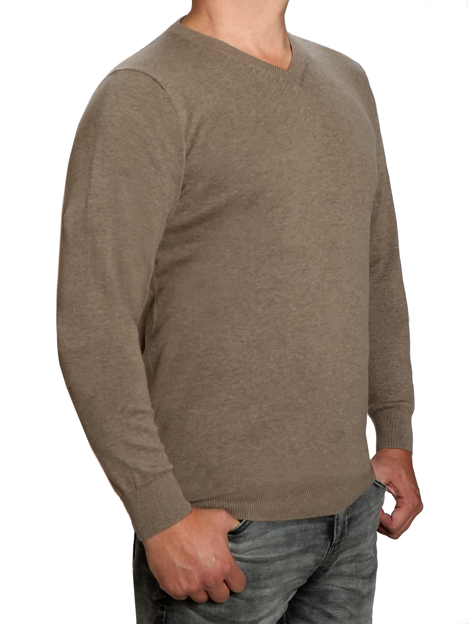 Extra langer Pullover, K I T A R O V Ausschnitt, in Braun