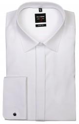 Hemd OLYMP Level Five body fit Weiß mit Umschlagmanschetten Extra langer Arm 70cm