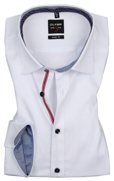 OLYMP Extra langer Arm 69 cm, Hemden Level 5 Body Fit, Weiß