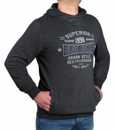 K I T A R O Sweatshirt mit Kaputze Anthrazit-- EXTRALANG