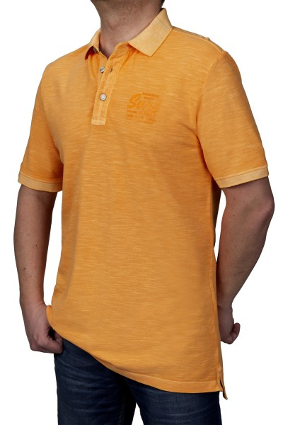 KITARO Poloshirt in extra lang in Orange