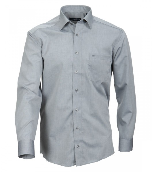 Hemd Casa Moda Comfort Fit Grau Extra langer Arm 69 cm