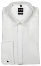 Hemd OLYMP Level Five body fit Beige mit Umschlagmanschetten Extra langer Arm 70cm