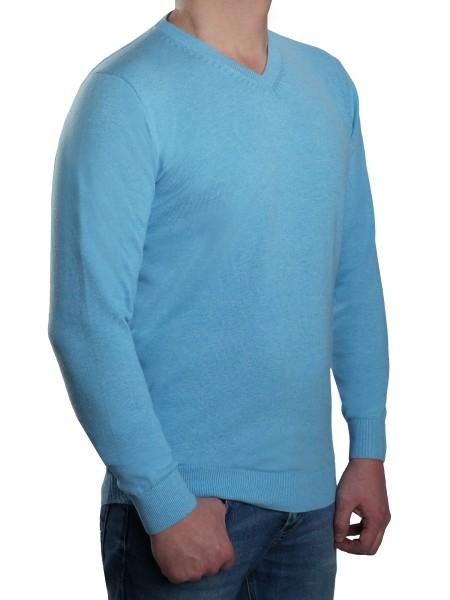 Extra langer Pullover, K I T A R O-V-Ausschnitt, Türkis