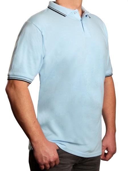 Poloshirt KITARO Hellblau--in extra lang
