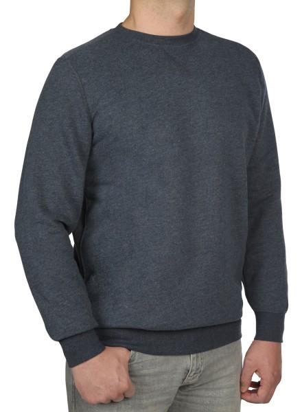 Sweatshirt in extra lang von KITARO - Blau mel.
