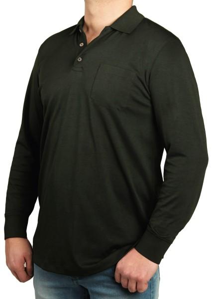 Poloshirt in extra lang, K I T A R O Dunkelgrün