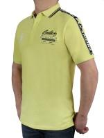 KITARO Poloshirt in Lemon -Extra Lang