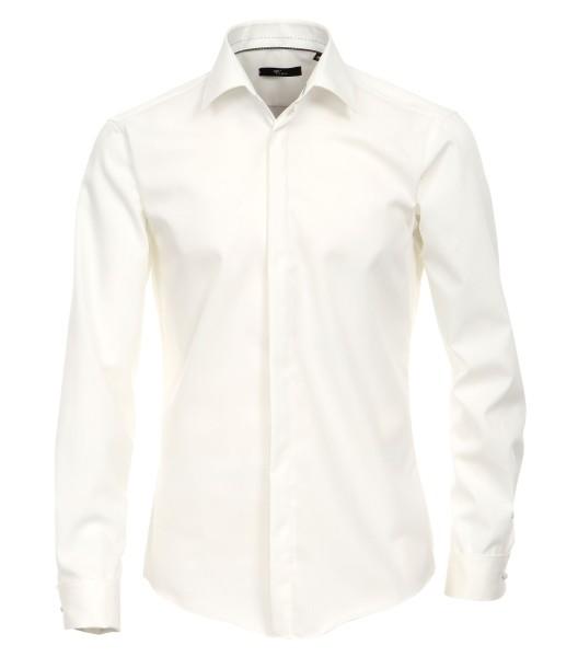 Hemd Venti Modern Fit mit Umschlagmanschetten Beige Extra langer Arm 72 cm