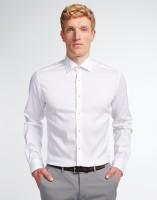 Hemden Extra langer Arm 72 cm, E T E R N A Slim Fit, Weiß