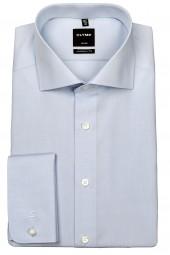 Hemd OLYMP Luxor modern fit mit Umschlagmanschetten Hellblau Extra langer Arm 70cm