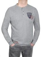 KITARO Langarm- T-Shirt in extra lang, Grau