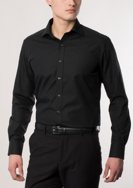 Hemden Extra langer Arm 68 cm, E T E R N A Modern Fit, Schwarz