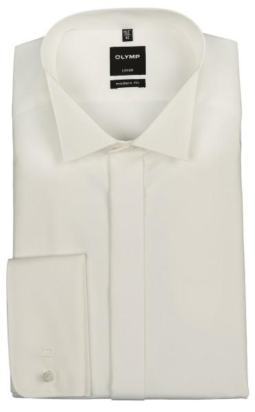 OLYMP Extra Langer Arm 70 cm, Hemden Luxor modern fit, Kläppchenkragen, Beige