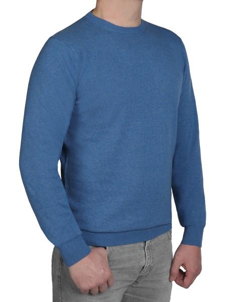 Extra langer Pullover Herren, K I T A R O-Rundhals, in Blau